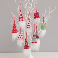 Christmas decoration supplies spherical pointed hat faceless doll pendant creative old man dwarf Rudolph doll small hanging