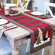 Nordic Christmas cotton twist lattice table runner creative new Christmas decoration restaurant table tablecloth tea table table runner