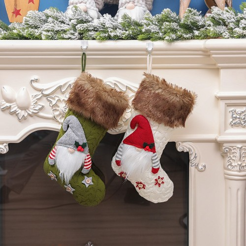 Christmas decoration knitted faceless big socks Christmas socks candy socks gift socks word Christmas tree pendant