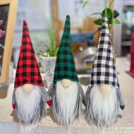 New plaid Christmas faceless doll doll Nordic style Rudolph forest old man decoration ornaments