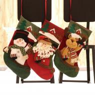 2020 New Christmas Socks Gift Bag Christmas Tree Decoration Pendant Christmas Gift Supplies Santa Socks