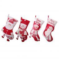 2020 New Red and White Dancing Old Man Handmade Christmas Socks Large Gift Bag Christmas Decoration Christmas Eve Candy Socks