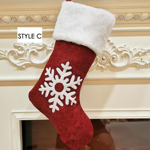 2020 Christmas socks gift bag kenaf elk embroidery Christmas socks Christmas gifts Christmas pendants