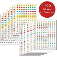 CRANBURY Daily Planner Stickers for Calendars - (Set of 1400), 46 Unique Designs, Calendar Stickers for Bullet Journal, Daily Planner, Agenda or Notebook, Planner Stickers and Office Accessories